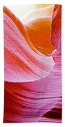 Resting Place In Lower Antelope Canyon In Lake Powell Navajo Tribal Park-arizona  Beach Towel