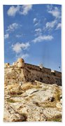 Rethymno Fortification Beach Towel