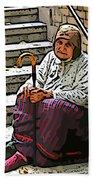 Retired In Greece Beach Towel