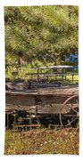 Retired Wagon At Thousand Trails Beach Towel