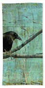 Retro Blue - Crow Beach Towel