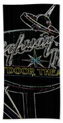 Retro Collection Drive-in Theaters Beach Towel
