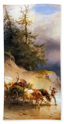 Return From The Mountain Pasture Beach Towel