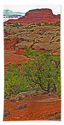 Return Trail To Elephant Hill In Needles District Of Canyonlands National Park-utah Beach Towel