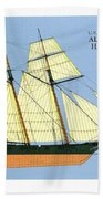 Revenue Cutter Alexander Hamilton Beach Towel