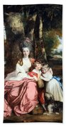 Reynolds' Lady Elizabeth Delme And Her Children Beach Towel