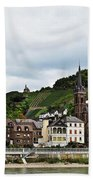 Rhine River View Beach Towel