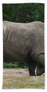 Rhino In The Wild Beach Towel
