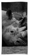 Rhinos Beach Towel