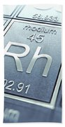 Rhodium Chemical Element Beach Towel