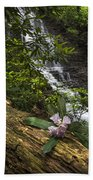 Rhododendron At The Falls Beach Towel
