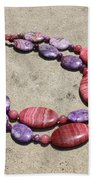 Rhodonite And Crazy Lace Agate Double Strand Chunky Necklace 3636 Beach Towel