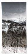 Rhymney Valley Winter 5 Beach Towel