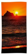 Rialto Beach Sunset Beach Towel