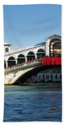 Rialto Bridge Venice Beach Towel