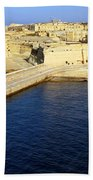 Ricasoli Breakwater At Valletta's Grand Harbor Beach Towel