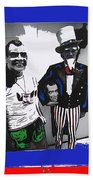 Richard Nixon Masks Uncle Sam Collage  Democratic National Convention Miami Beach Florida 1972-2008 Beach Towel