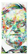 Richard Wagner Watercolor Portrait Beach Towel