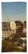 Richmond Virginia - Old And New Capitol Buildings Beach Towel