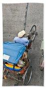 Rickshaw Driver - Bangkok Beach Towel
