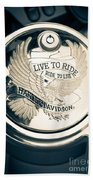 Ride To Live Beach Towel