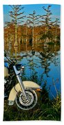 Riding The Mississippi Delta Beach Towel