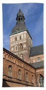 Riga Cathedral Beach Towel