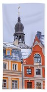 Riga Old Town Beach Towel