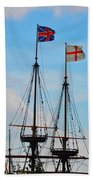 Rigging And Flags Beach Towel