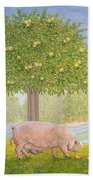 Right Hand Orchard Pig Beach Towel