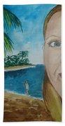 Rincon Girl Beach Towel by Frank Hunter