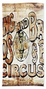 Ringling Brothers And Barnum And Bailey Circus Beach Towel