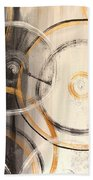 Rings Of Gold Abstract Painting Beach Towel