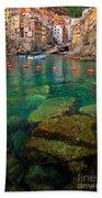 Riomaggiore Bay Beach Towel