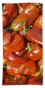 Ripe Red Peppers Beach Towel