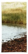 Rippled Water Rippled Reeds Beach Towel