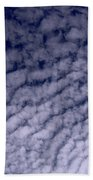 Ripples In The Dark Blue Sky Beach Towel
