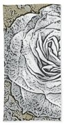 Ritzy Rose With Ink And Taupe Background Beach Towel