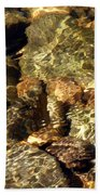 River Abstract Beach Towel