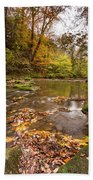 River Blyth In Autumn Vertical Beach Towel