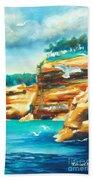 River Cliffs 2 Beach Towel