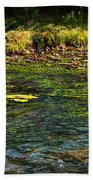 River Colors Beach Towel