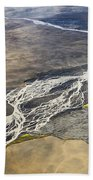 River Delta Iceland Beach Towel