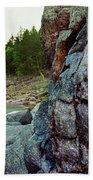 River Flowing Through Rocks, Black Beach Sheet