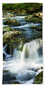 River Flowing Through Woods Beach Towel