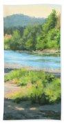 River Forks Morning Beach Towel