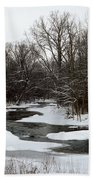 River Freeze Beach Towel