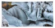 River Ice Beach Towel
