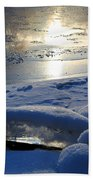 River Ice Beach Towel
