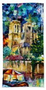 River In Paris Beach Towel